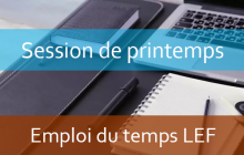 LEF: Emploi du temps Session de printemps A.U/2018/2019