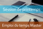 MASTER : Emploi du temps Session de printemps A.U/2017/2018