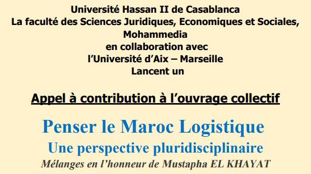 Appel à contribution Ouvrage Collectif Penser le  Maroc Logistique