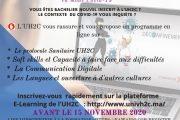 Programme de formation aux profil des nouveaux bacheliers 2020-2021