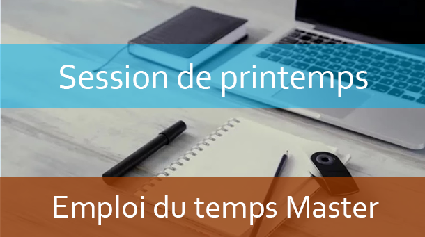 Master : Emploi du temps Session de printemps A.U: 2020/2021