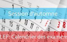 LEF : Calendrier des examens à distance de la session d'automne (Rattrapage) 2020-2021