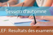 Résultats de la session rattrapage AU : 2019-2020