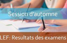 Résultats de la session rattrapage AU : 2018-2019