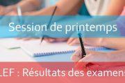 LEF: Résultats de la session rattrapage AU : 2017-2018