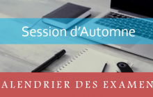 Masters : Calendrier des examens de la session d'automne A.U 2018-2019