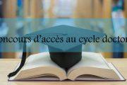 AVIS aux candidats admis au cycle doctoral<br/>A.U 2019-2020